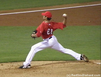 Clay Buchholz allowed only one baserunner in two solid innings of work.