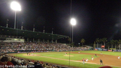 The Red Sox take on the Reds at City of Palms Park.