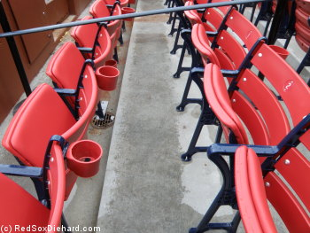 The new box seats at Fenway. At least Ill have something nice to sneak down to when the casual fans bail.