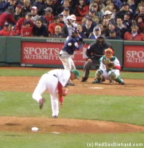 Hideki Okajima, left-handed reliever and contortionist extraordinaire, pitched a 1-2-3 eighth.