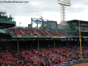 The new right field roof seats at Fenway