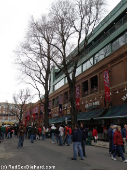 Obligatory shot of Yawkey Way on Opening Day