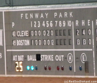 The Sox put a really crooked number on the board with no outs in the sixth.