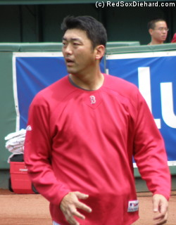 Takashi Saito during practice.