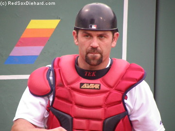 Jason Varitek is ready to catch.