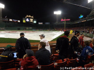 The rain had stopped by the time I picked out a nice seat behind the plate.