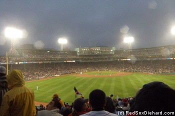 It was a rainy night at the Fens.