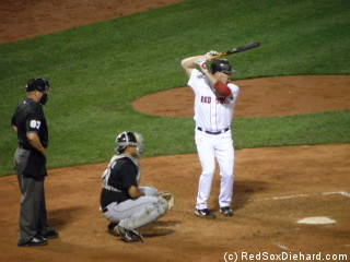 Kevin Youkilis provided the only Red Sox hit of the night.