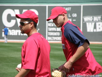 Manny Delcarmen and Justin Masterson.