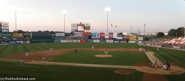 The PawSox take on the Rochester Redwings, and affiliate of the Mineesota Twins, at McCoy Stadium.
