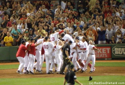Ive seen my share of walk-off homers, and the celebration at home plate never gets old.