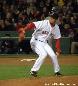 Hideki Okajima pitched the eighth and gave up a 2-run homer.
