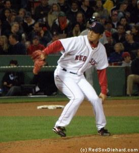 Hideki Okajima pitched the eighth and gave up a 2-run homer.