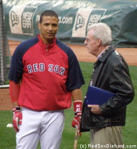 Victor Martinez chat with Peter Gammons.