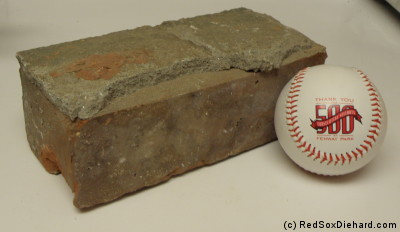 My very own Fenway Park brick!
