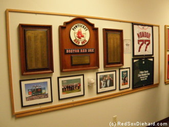 One of the displays in the corridors leading to the clubhouse.