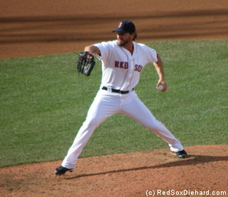 Scott Schoeneweis was the lone bright spot for the Red Sox, with two scoreless innings pitched.