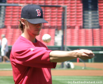 Besides being one of the most consistent starters for the Red Sox this season, Clay Buchholz has other talents too - like bouncing a baseball on his arm.