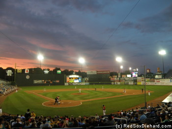 Even though the home team ended up falling short, it was a nice night foe baseball at Portland's Hadlock Field.