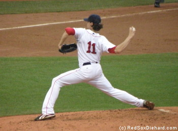 Clay Buchholz had another strong outing and continued his scoreless streak.