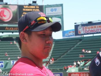 Daisuke Matsuzaka signed autographs for 45 minutes, including one for me!