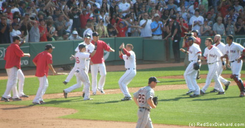Buchholz pitched well, and (skipping ahead a bit) everyone loves a walk-off.