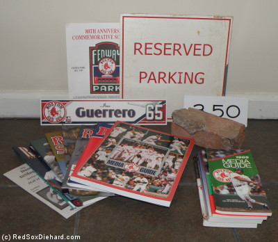 My loot from the 2010 Fenway Park Yard Sale.