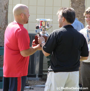 Kevin Youkilis is the winner of NESN's Second Base Cup.  Let's hope that in October he's hoisting an even bigger trophy!