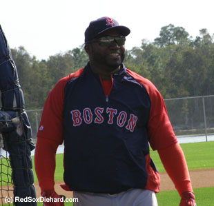 Big Papi was his usual merry self.
