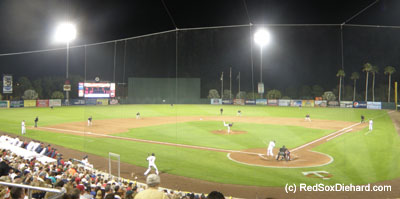 The Red Sox took on the Minnesota Twins on a warm night in Ft. Myers.