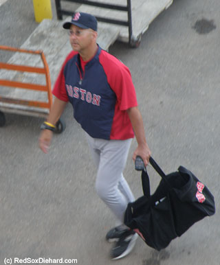 Terry Francona arrives at the game.