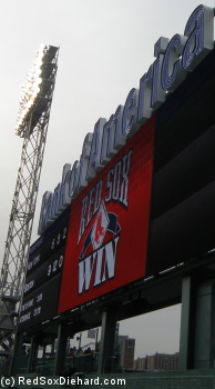 The best part of the new scoreboards is when they announce that the Red Sox have won.