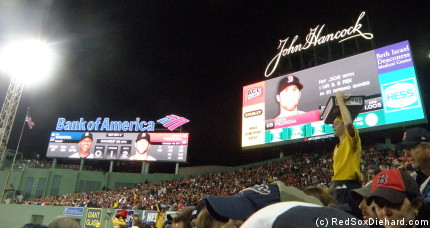 I had a much better look at the new outfield video boards tonight than I did from my seat on Opening Day.