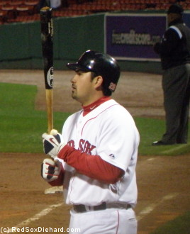 Adrian Gonzalez comes up to bat in the 6th inning.
