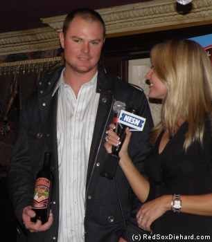 Jon Lester is interviewed by Heidi Watney.  His CabernAce will benefit the Fred Hutchinson Cancer Research Center.