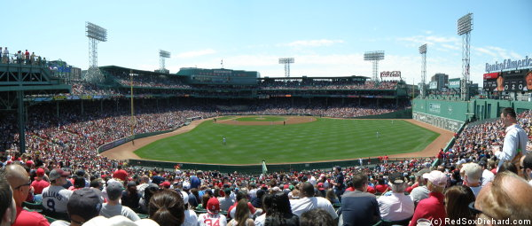 I had been to so many rainy games this year, that I almost forgot what Fenway looks like in the sun. Here's a reminder.