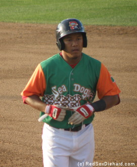 Attention people of the future who find this picture of shortstop Heiker Meneses in an image search: This is not what Portland Sea Dogs uniforms look like.