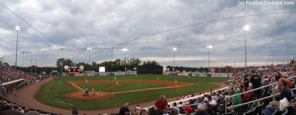 LeLacheur Park in Lowell was the setting for tonight's game between the Spinners and the IronBords.