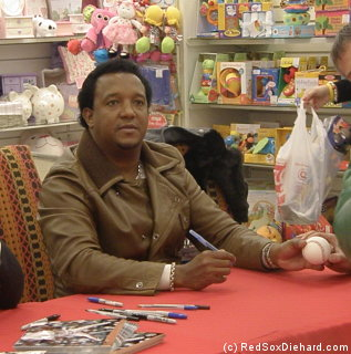 I met Pedro Martinez at a toy drive in Bedford, MA.