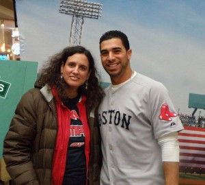 I got to meet Red Sox infielder Mike Aviles.