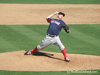 Alex Wilson pitched the sixth inning - which was stopped after two outs.