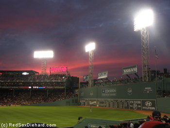 A nice sunset proved that not everything about the game was ugly.