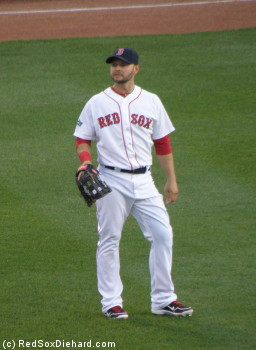 Cody Ross had a good defensive play early in the game, and he hit a blast high over the Green Monster late in the game.
