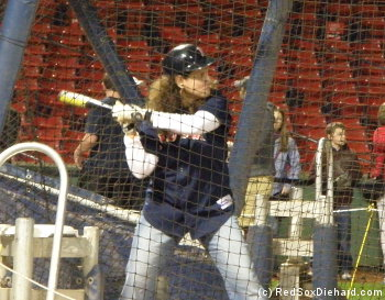 I'm in the same batter's box where Dustin Pedroia stands!
