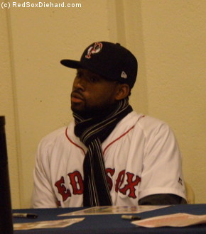 Jackie Bradley, Jr., the centerfielder who's one of the top prospects in the Red Sox organization, is bundled up on this cold Rhode Island morning.