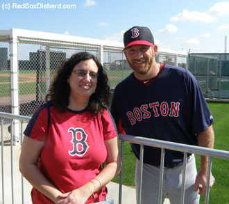 I met veteran starter Ryan Dempster, who joined the Sox this year after playing for the Marlins, Reds, Cubs and Rangers.