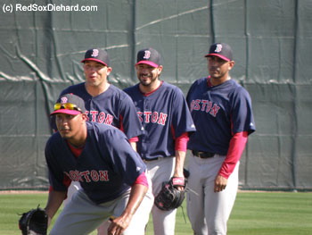 Felix Doubront, Alfredo Aceves, Chris Hernandez, and Franklin Morales take part in PFP.