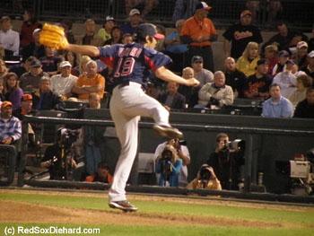 Koji Uehara threw a quick 12-pitch inning.