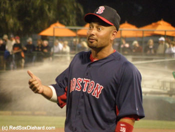 Shane Victorino was hit by a pitch and stole a base.