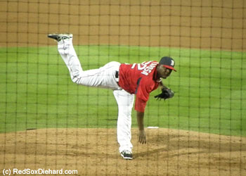 Rubby De La Rosa was impressive in his two scoreless innings of work.